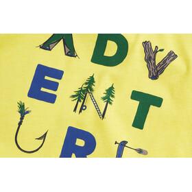 United By Blue Adventure T-shirt à col ras-du-cou à motif Enfant, citron yellow